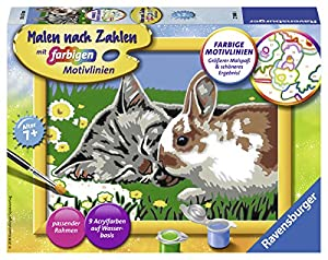 Ravensburger 00.027.840 Kit de Pintura por números Libro y página para Colorear - Libros y páginas para Colorear (Kit de Pintura por números, 1 páginas, Child, Niño/niña, 7 año(s), Kitten and Bunny)