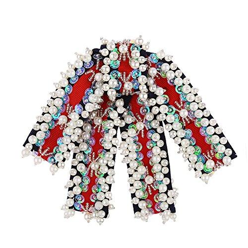 LILIMO Mode Bogen Frauen Einfarbig Fliege Fliege Kleine Krawatte Brosche Corsage Fliege