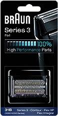 Braun Elektrorasierer Ersatzscherfolie 31B, kompatibel mit FlexXP und Flex Integral Rasierern, schwarz