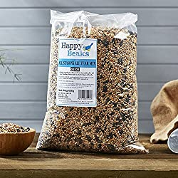 Happy Beaks All Seasons Wild Bird Seed Food Mix Premium Grade Feed