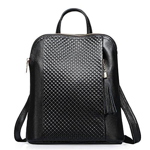 La sig.ra dual borse a tracolla elegante pelle spalla spalle due pacchetti primo strato di vacchetta Ms. confezione Zaino di massa degli studenti' schoolbags C B
