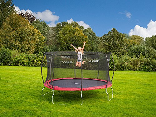 hudora fantastic trampolin garten trampolin mit sicherheitsnetz trampolin 1. Black Bedroom Furniture Sets. Home Design Ideas