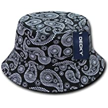 Decky 459-pl-blk-06 Paisley cappello da pescatore 21cd8efb4c21