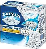 Catsan Katzenstreu Active Fresh, Klumpstreu mit Zusatz von Duftstoffen, natürliche, weiße Körnchen für zuverlässige Klumpenbildung, 8 l