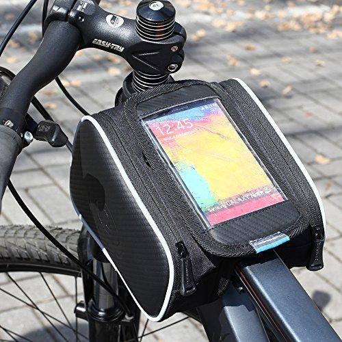 Ryask (TM) UK 1.8l impermeabile Cycling Road bike bicicletta anteriore superiore del tubo telaio Pannier doppio sacchetto del sacchetto per 5.5in cellulare nuovo - Biciclette Pannier