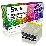 N.T.T.® 5 x Stück XL Druckerpatronen / Tintenpatronen kompatibel zu Brother LC1000BK / LC970BK Schwarz / Black, Sparset
