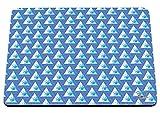 Hippowarehouse Illuminati œil Motif imprimé Tapis de souris accessoire de base en caoutchouc Noir 240mm x 190mm x 60mm, bleu, taille unique...