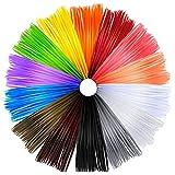 AngeliteCare® - 3D Stift oder Drucker Filament - 1.75mm PLA (14 Farbiges Stück - 140 Meter/460 Fuß - Mehrfarbenpack)