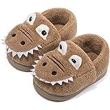 Voqeen Zapatillas de Felpa Dinosaurio de Dibujos Zapatillas de Estar por Casa para Niños Niñas Pantuflas Invierno Casa Calien