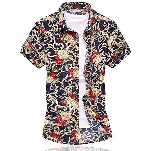 Uomo Tempo Libero Camicia Hawaiana Stampe Floreali corte da floreale