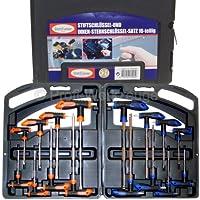 Stiftschlüssel Winkelschlüssel Steckschlüssel Set 16 tlg Torx Schraubendreher
