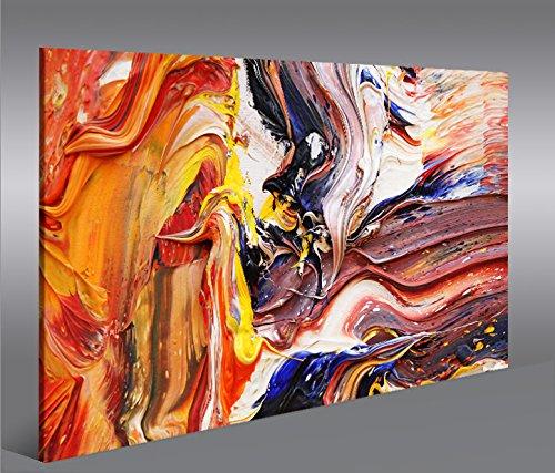 Bild Bilder auf Leinwand Farbe Struktur Gemälde-Style Abstrakt 1p XXL Poster Leinwandbild Wandbild Dekoartikel Wohnzimmer Marke islandburner Poster Abstrakte Gemälde