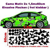 Waben Cyber Camo 2x 2m Camouflage Camo einzelne Flecken Autoaufkleber Aufkleber Sticker Folie Style Bodystyle Karosserieaufkleber Karosseriefolie