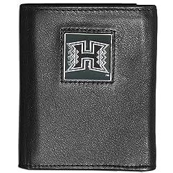 NCAA Hawaii Rainbow Warriors Deluxe Leather Tri-fold Wallet