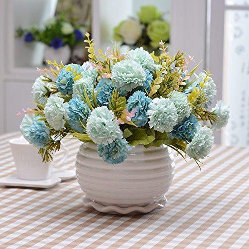 Self-My Künstliche Blumen Topfpflanzen Kunststoff Eingerichteten Speisesaal Möbel Wohnzimmer Simulation Zum Ausschwenken Der Malerei Rose Lila Weißen Becken Gefälschte Blumen (Lila Und Weiß-malerei)