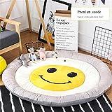 AINUO Runde Fuß/Fußmatten Kinderzimmer Einfarbig Baumwolle Schlafzimmer Klettern Teppiche Rund Wohnzimmer Teppich Zelt Schöne Innen Pad (Color : F)