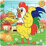 JIUZHOU Jouets Pour Enfants puzzle en bois 20 pièces pour les enfants de 1 à 5...