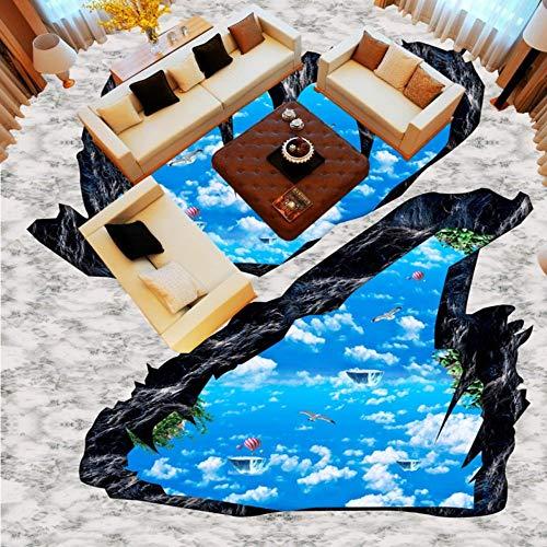 Sucsaistat Tapete Wandbild 3D Cliff Sky Stereo Badezimmer Küche Wohnzimmer Schlafzimmer Galerie Boden Friseur Tapete, 400Cm (B) X 280Cm (H) - Moderne Damast-galerie