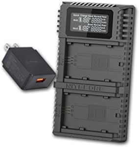 Nitecore Usn4 Pro Digital Quickcharge 2 0 Usb Ladegerät Kompatibel Mit Sony Np Fz100 Akkus Und Lumentac