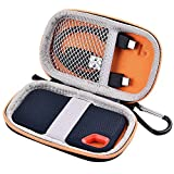Portable Shockproof Case for SanDisk Extreme Portable SSD 250GB/ 500GB/ 1T/ 2T SSD USB 3.0 External Solid State Drives (Orange)