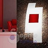 Applique Wandleuchte Wand Moderne Design Elegante Glas satiniert sfalzato gekreuzt Stahl rot Wohnzimmer Flur Treppenhaus Bad Tetri AP Ro Sophie Lighting