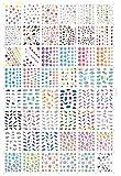 AIUIN 48 Piezas Pegatina de Uñas Francesas Guías de Clavar Tip Pegatinas Conjunto con Diferentes Formas para Uñas de Manicura,54*64MM