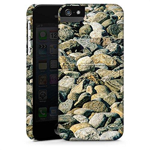 Apple iPhone 5s Housse Étui Protection Coque Pierres Rocher Nature CasStandup blanc