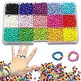 Mini cuentas de cristal para los niños, HDY 3mm Conjunto de Cuentas de Colores, DIY Bracelet Arte y joyería-Making, cadena de cuentas de fabricación de juego,