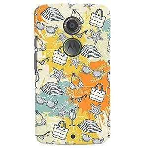 ColourCrust Motorola Moto X2 Mobile Phone Back Cover With Beach Pattern Style - Durable Matte Finish Hard Plastic Slim Case