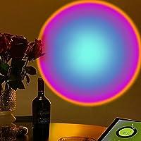 Czemo Lampe Coucher de Soleil, Sunset Lamp, LED Sunset Projection Lamp Rainbow Lampe, 180 °Rotation Lumiere Coucher de…