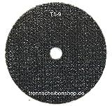 Im Trennscheibenshop 20 Stück. Trennscheibe, TTT-1_ Ø 50 x 1,1 x 6,0 mm, Inox Edelstahl Eisen und sulfatfrei, Profi Scheibe, Super Premium.