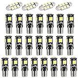 Muchkey Auto Innenbeleuchtung für Q5 LED Standlicht Lampe Birne Licht 26pcs Weiß