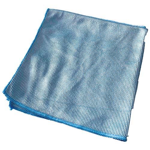 Mop Knight   10 Stück Glas- und Fenstertücher aus Mikrofaser   Glasputztuch & Fensterputztuch für streifenfreie Fensterreinigung ohne Wasserränder, 40x40cm