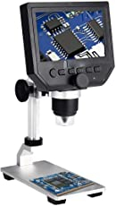 Techtest USB Microscope 600x, 3.6mp 4.3 Inches Hd Lcd Display with Stand (MG-G600)