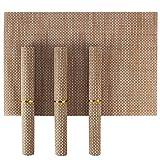 HOKIPO® PVC Dining Table Kitchen Placemats, 45 x 30 cm, 4 Pieces, 1 Set
