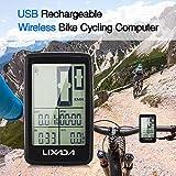 Explopur Tachimetro per Bicicletta Ricaricabile USB Senza Fili per Computer da Bici