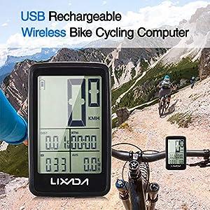 61hUU9dvjPL. SS300 Explopur Tachimetro per Bicicletta Ricaricabile USB Senza Fili per Computer da Bici
