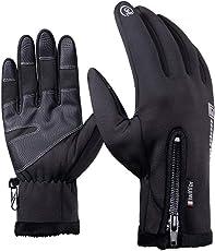 F.anlos Skihandschuhe Herren, Skihandschuhe Damen, Touchscreen Handschuhe, Thermo Handschuhe Warm