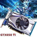 Wokee GTX650Ti 1 GB,GDDR5 Quadro,128 Bit HDMI Grafikkarte 5000 MHz Für NVIDIA GeForce,Grafikkarte (1GB HBM2)