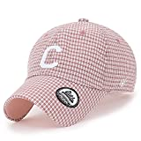 ililily Farbe Schottenmuster Muster C Flicken Baseball Cap Schlaufe Freizeitkleidung Trucker Cap Hut, Pink Plaid