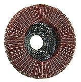 Kombi-Polierscheibe 125 x 22,2 Vlies/Leinen , 3 Körnungen , für Metall , Vliesscheibe, Schleifscheibe (Korn sehr fein)