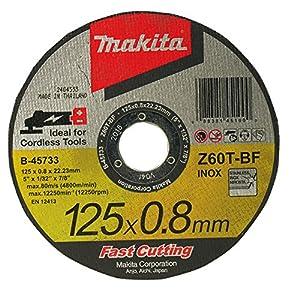 61hUXDrQACL. SS300  - Makita Disco de corte, metal, 125x 0,8mm, B de 45733