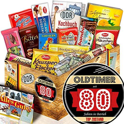 Oldtimer 80 - DDR Korb Schokolade - Geschenke 80ten Geburtstag