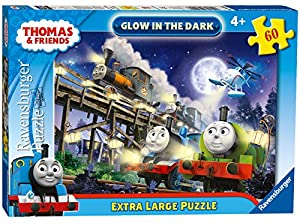 Ravensburger Puzzle Thomas y Sus Amigos - 60 Piezas de tamaño Extra Grande, Brilla en la Oscuridad