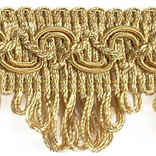 Posamentenborte Breite 35 mm / Meterware Farbe Gold / Dekoborte Bordüre Borte mit Posamenten Fransen Brokat Spitze Bordüre Antik Jugendstil...
