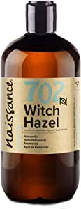 Naissance Distilled Witch Hazel (no. 702) 500ml - Pure, Natural, Cruelty Free, Vegan - Cleansing & Toning - Ideal for Aromatherapy, Skincare and DIY Beauty Recipes