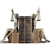 QLIGHA Serre-Livres en résine déesse de la Justice Forme Organisateur de Livre de Bureau étagère Moderne pour Salle d…