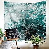 GuDoQi Meer Tapisserie Wandbehang Wohnheim Dekor Polyester Für Schlafzimmer Strand Blatt Tischdecke