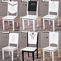 Legno massello sedia da pranzo home semplice