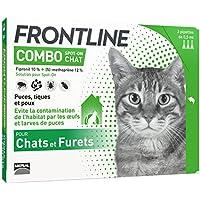 FRONTLINE Combo Chat - Anti-puces et anti-tiques pour chat - 3 pipettes